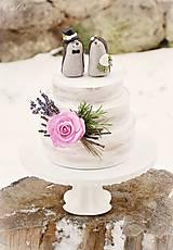 Dekorácie - Svadobní ježkovia menší - figúrky na tortu - 9043635_
