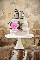 Dekorácie - Svadobní ježkovia menší - figúrky na tortu - 9043637_