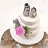 Dekorácie - Svadobní ježkovia menší - figúrky na tortu - 9043639_
