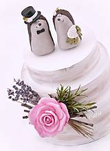 Dekorácie - Svadobní ježkovia menší - figúrky na tortu - 9043640_