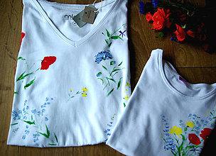 Tričká - Krásne tričko pre mamu a dcéru - setík - 9041860_