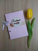 Papiernictvo - Receptár - ružové bodky - 9043554_