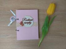 Papiernictvo - Receptár - ružové bodky - 9043556_