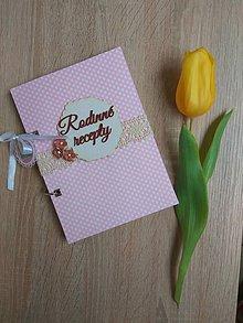 Papiernictvo - Receptár - ružové bodky - 9043555_