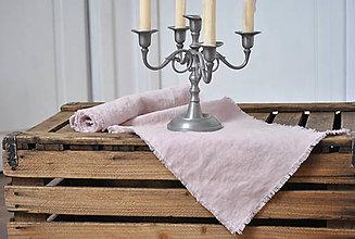 Úžitkový textil - ľanová štóla (sivoružová) - 9042462_