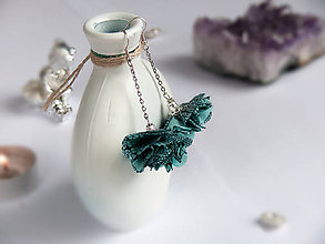 Náušnice - Náušnice: Modro-strieborné kvety - 9044403_