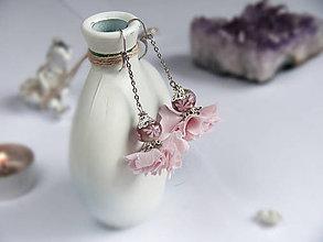 Náušnice - Náušnice: Jemné ružové kvety - 9044538_