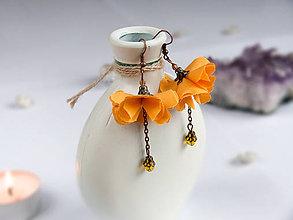 Náušnice - Náušnice: Žlté kvety - 9044732_