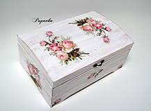- Truhlička vintage ružičky - 9041782_