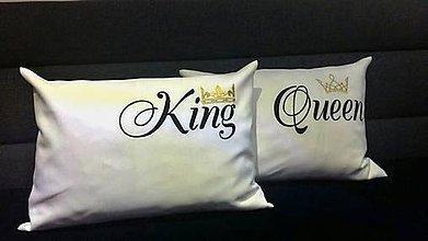 Úžitkový textil - vánkúšik-King alebo Queen - 9043502_
