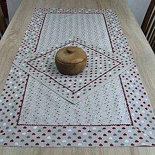 Úžitkový textil - Režné variácie bordo  - obrus obdĺžnik 116x56 - 9042109_