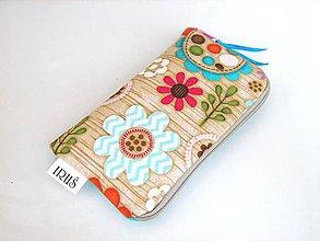 Na mobil - Pouzdro na telefon Kytičky v lese - 9041701_