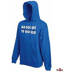 Oblečenie - Absolut trouble - man hoodie - 9043699_
