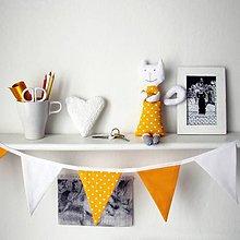 Dekorácie - Girlanda žlto-biela - 9045467_