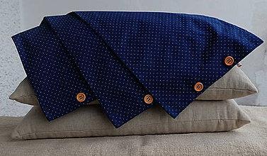 Úžitkový textil - FILKI šupkový vankúš s návliečkou (Modrá) - 9041752_