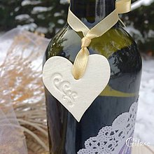 Darčeky pre svadobčanov - Ozdoby na fľaše - 9041666_