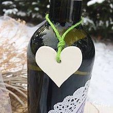 Darčeky pre svadobčanov - Ozdoby na fľaše - 9041680_