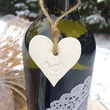 Darčeky pre svadobčanov - Ozdoby na fľaše - 9041686_