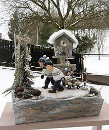 Dekorácie - zimná dekorácia: Traja bratia - 9049718_