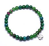 Náramky - náramok šťastie zelený mix - 9048132_