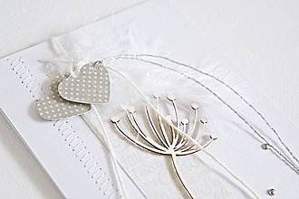 Papiernictvo - Svadobný pozdrav - púpava - 9048312_