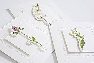 Papiernictvo - 3 pozdravy - rastlinné III - 9048509_