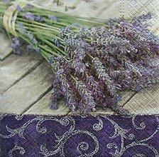 Nezaradené - S1112 - Servítky - kytica, levandula, lavender, ornament, vintage - 9046489_
