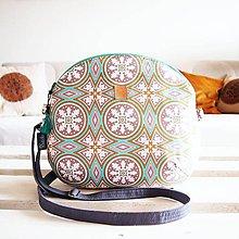 Kabelky - Stredná kabelka - orient v sivo-mentolovej - 9047397_