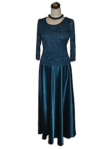 Sukne - spoločenská sukňa (40 - Tyrkysová) - 9046541_