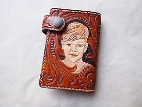 Peňaženky - Kožená peňaženka s portrétom podľa fotografie - 9047806_