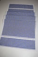 Úžitkový textil - STŘEDOVÝ BĚHOUN .. modrá kostička - 9046670_