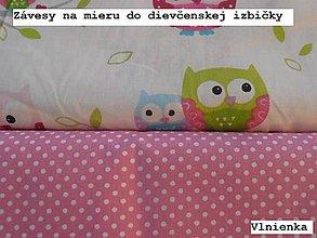 Úžitkový textil - Výrobok na mieru Závesy do dievčenskej izby - 9047254_