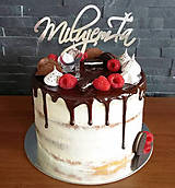 Dekorácie - Zápich na tortu - Milujem ťa - 9049260_