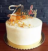 Dekorácie - Zápich na tortu - Z lásky - 9049429_
