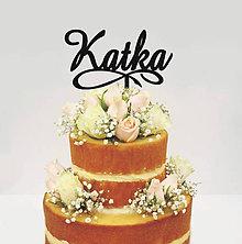Dekorácie - Meno na tortu - nekonečno (Výška zač. písmena 5cm, šírka do 15cm - Biela) - 9049745_