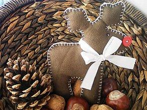 Dekorácie - Sob Rudolf (Hnedá) - 9047430_