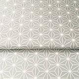 Textil - šedé origami; 100 % bavlna Francúzsko, šírka 160 cm, cena za 0,5 m - 9048306_