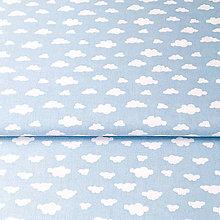 Textil - belasé mini obláčiky; 100 % bavlna Francúzsko, šírka 160 cm, cena za 0,5 m - 9048104_