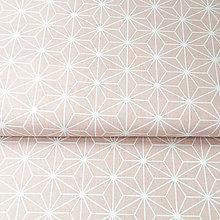 Textil - ružové origami; 100 % bavlna Francúzsko, šírka 160 cm, cena za 0,5 m - 9048134_