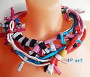 Náhrdelníky - Uzlíkový pestrý náhrdelník - 9047285_