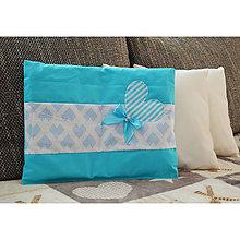 Úžitkový textil - Vankúš pre bábätko - modrý - 9049635_