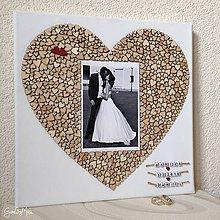 Obrázky - Srdiečkové srdce s fotkou 30x30cm (fotka na výšku) - 9047208_