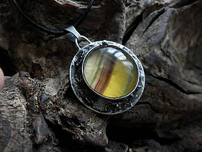 Náhrdelníky - Slnečný symbol (fluorit) - 9049211_