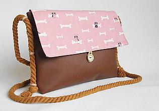 Kabelky - Daisy mini 2:) Ružový buldoček na želanie:) - 9048981_