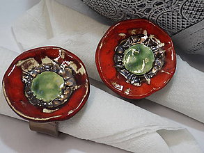 Dekorácie - Krúžky na servítky (mak) - 9048835_