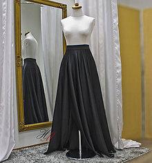 Sukne - Sukňa s vysokým rázporkom a vreckami - 9049465_