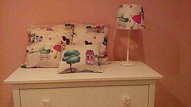 Úžitkový textil - Lampa a vankúšiky na želanie - 9046199_