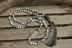 - Japa Mala náhrdelník z minerálov ohnivý achát - 9049315_