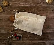 - Vrecko na chlieb z hrubého ľanového plátna - 9047949_