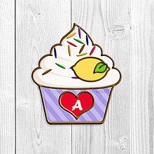 Grafika - Grafika na potlač jedlého papiera - ovocné koláčiky s farebnou ryžou (pásikavé košíčky) - 9047863_